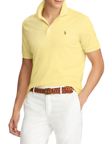 Polo Ralph Lauren Classic-Fit Soft Touch Cotton Polo-YELLOW-Large