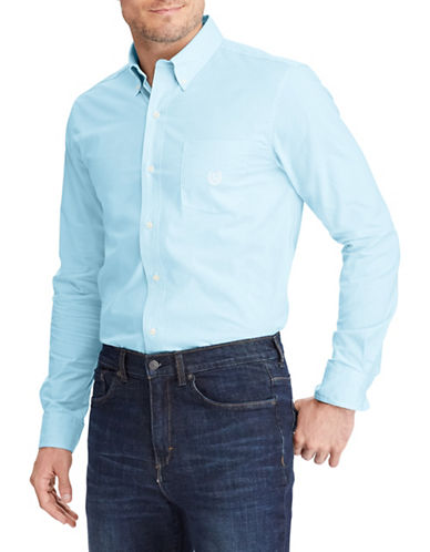 Chaps Long-Sleeve Sport Shirt-BLUE-Medium