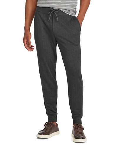 Polo Ralph Lauren Herringbone Double-Knit Joggers-BLACK-Large