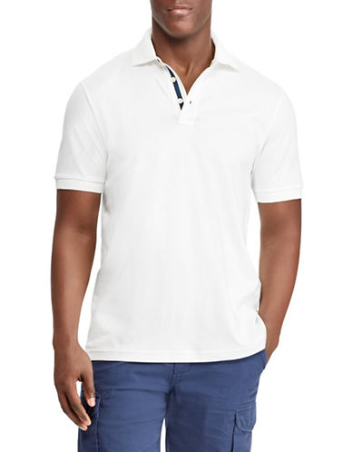 Chaps Performance Pima Cotton Polo-WHITE-Medium