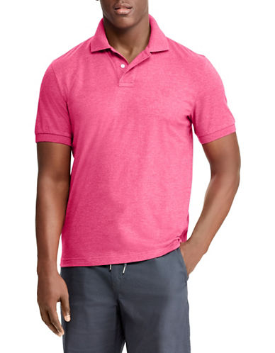 Chaps Coolmax Performance Jersey Polo-PINK-Small