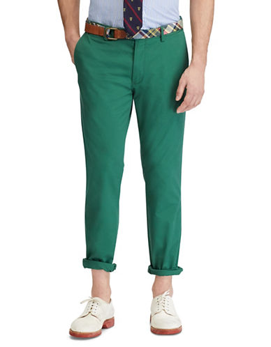 Polo Ralph Lauren Stretch Slim-Fit Chino Pants-GREEN-32X32