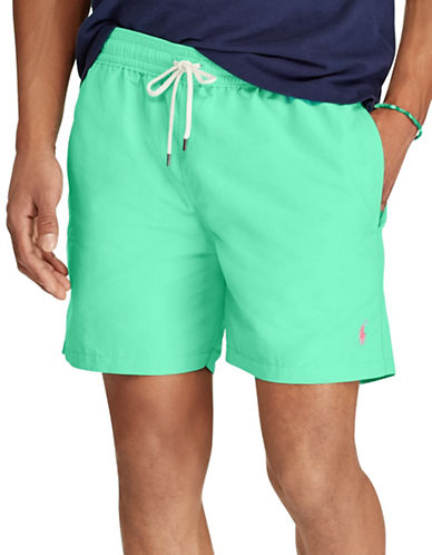 Polo Ralph Lauren Traveller Swim Trunk-GREEN-Small