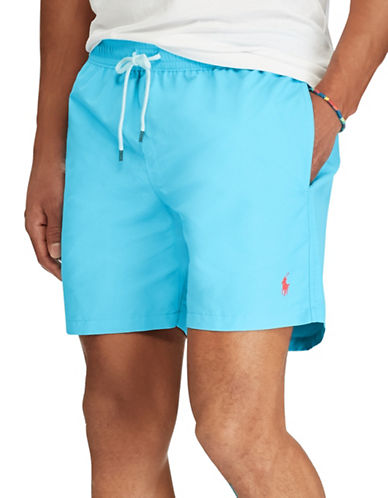 Polo Ralph Lauren Traveller Swim Trunk-TURQUOISE-Large