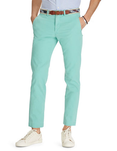 Polo Ralph Lauren Stretch Straight-Fit Chino Pants-LIGHT GREEN-34X30