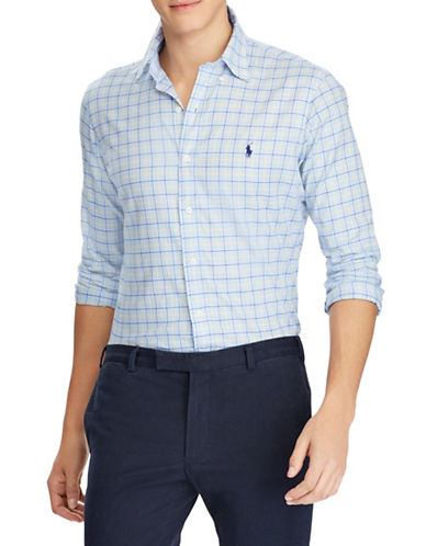 Polo Ralph Lauren Classic Fit Cotton Sport Shirt-BLUE-X-Large