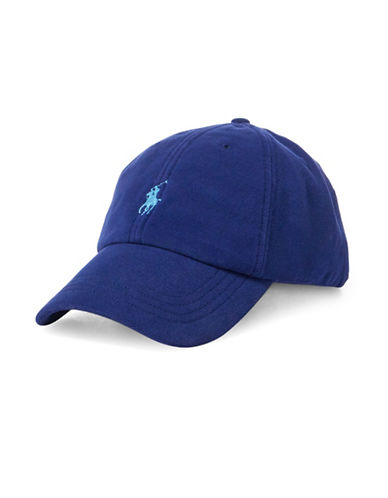 Polo Ralph Lauren Pique Cotton Baseball Cap-BLUE-One Size