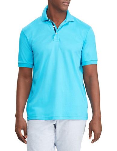 Chaps Performance Pima Cotton Polo-AQUA-X-Large