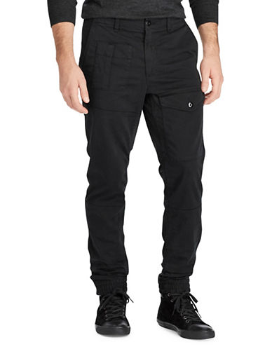 Polo Ralph Lauren Stretch Straight-Fit Jogger Pants-BLACK-34X30
