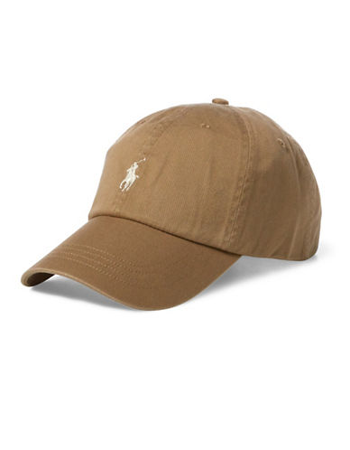 Polo Ralph Lauren Classic Cotton Baseball Cap-BEIGE-One Size
