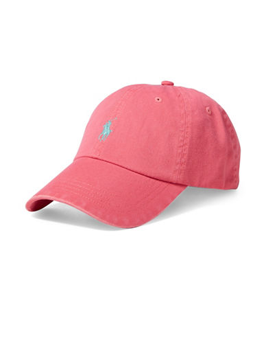 Polo Ralph Lauren Chino Baseball Cap-RED-One Size