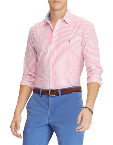 Polo Ralph Lauren Classic-Fit Cotton Sport Shirt-PINK-Small