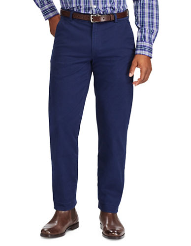 Chaps Stretch Chino Pants-NAVY-38X32