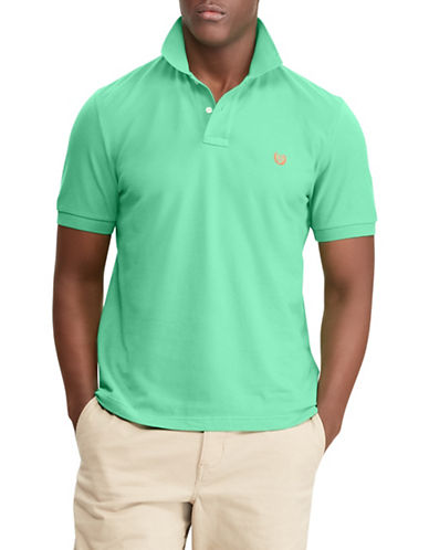 Chaps Big and Tall Cotton Mesh Polo-GREEN-3X Big