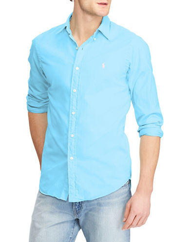 Polo Ralph Lauren Classic-Fit Twill Cotton Sport Shirt-BLUE-Medium