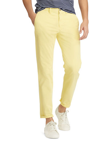 Polo Ralph Lauren Stretch Straight-Fit Chino Pants-YELLOW-40X30