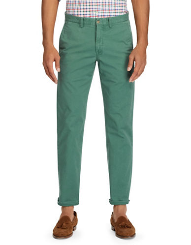 Polo Ralph Lauren Stretch Straight-Fit Chino Pants-DARK GREEN-40X32