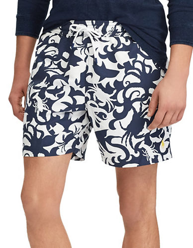 Polo Ralph Lauren Sea Creatures Traveller Swim Trunk-BLUE-Medium