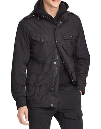 Polo Ralph Lauren Hooded Field Jacket-BLACK-X-Large