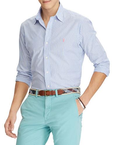 Polo Ralph Lauren Classic-Fit Cotton Sport Shirt-BLUE-Large