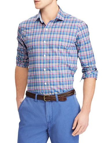 Polo Ralph Lauren Classic-Fit Cotton Sport Shirt-BLUE-X-Large