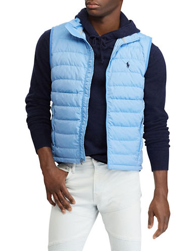 Polo Ralph Lauren Packable Taffeta Down Vest-BLUE-X-Large