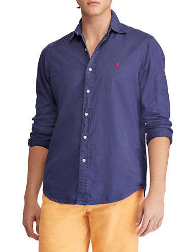 Polo Ralph Lauren Big & Tall Classic Fit Cotton Shirt-NAVY-Large Tall 89892747_NAVY_Large Tall