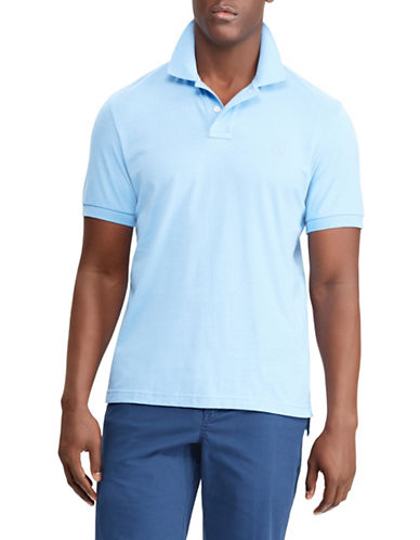 Chaps Coolmax Performance Jersey Polo-LIGHT BLUE-Medium