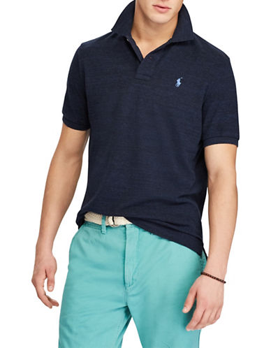 Polo Ralph Lauren Classic-Fit Mesh Cotton Polo-NAVY BLUE-X-Large