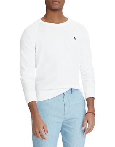 Polo Ralph Lauren Spa Terry Cotton Sweatshirt-WHITE-Small