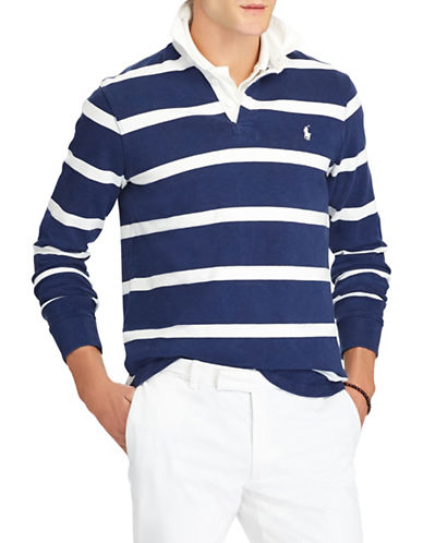 Polo Ralph Lauren Iconic Rugby Cotton Shirt-NAVY-Small 89881630_NAVY_Small