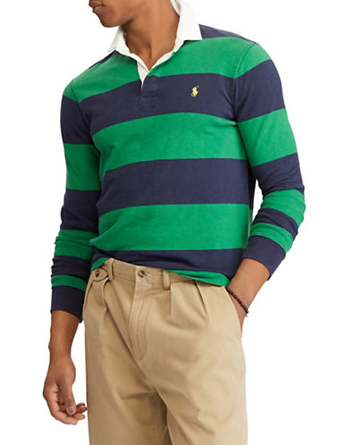 Polo Ralph Lauren Iconic Rugby Cotton Shirt-GREEN-XX-Large