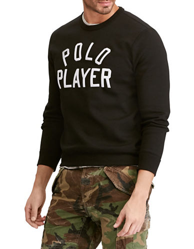 Polo Ralph Lauren Double-Knit Graphic Sweatshirt-BLACK-X-Large
