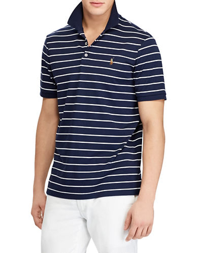 Polo Ralph Lauren Classic-Fit Soft-Touch Cotton Polo-NAVY-X-Large