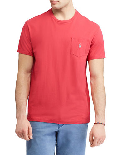 Polo Ralph Lauren Classic-Fit Pocket Cotton Tee-RED-XX-Large