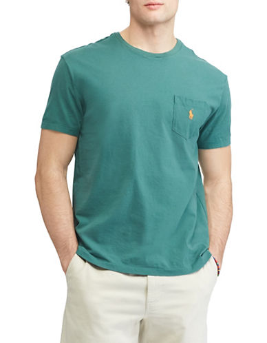 Polo Ralph Lauren Classic-Fit Pocket Cotton Tee-GREEN-Medium 89817233_GREEN_Medium