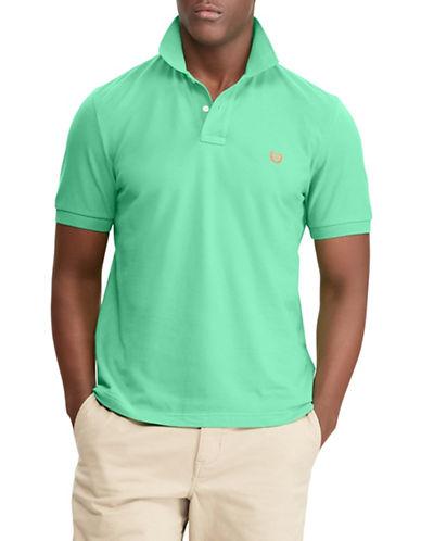 Chaps Cotton Mesh Polo-GREEN-Large