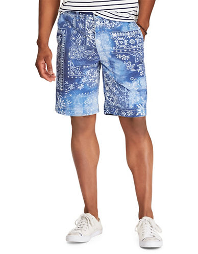 Polo Ralph Lauren Printed Cotton Chino Shorts-NAVY BLUE-40