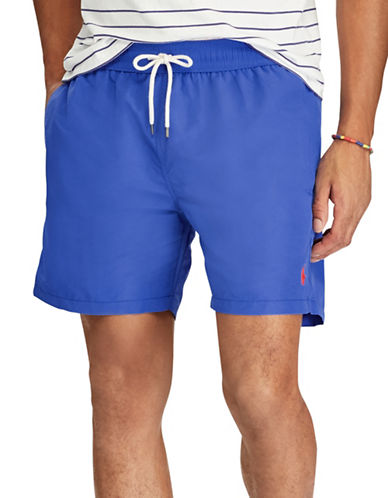 Polo Ralph Lauren Traveller Swim Trunk-BLUE/GREEN-Large