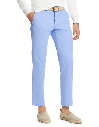 Polo Ralph Lauren Stretch Straight-Fit Chino Pants-LIGHT BLUE-38X32