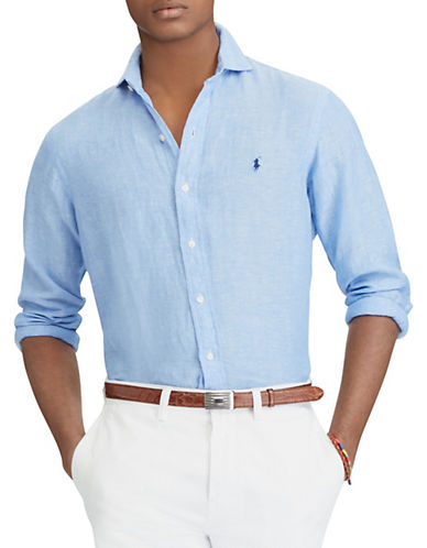 Slim-fit Linen Shirt Polo Ralph Lauren Cheap Wholesale Price Cheap Price Factory Outlet m01cu