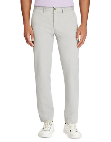 Polo Ralph Lauren Big and Tall Classic-Fit Stretch Chino Pants-GREY-44X32