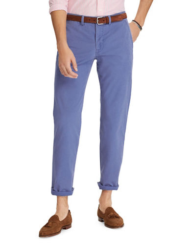 Polo Ralph Lauren Big and Tall Classic-Fit Stretch Chino Pants-BLUE-48X30