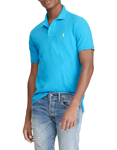 Polo Ralph Lauren Custom Slim-Fit Cotton Mesh Polo-BLUE-XX-Large