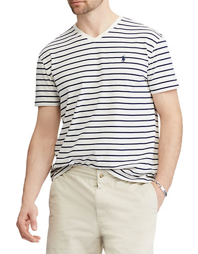 Polo Ralph Lauren Classic-Fit Jersey Cotton T-Shirt-WHITE-Medium 89952653_WHITE_Medium