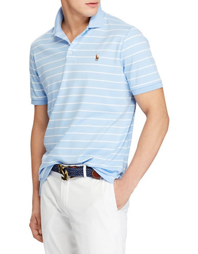 Polo Ralph Lauren Classic-Fit Soft-Touch Cotton Polo-BLUE-Large