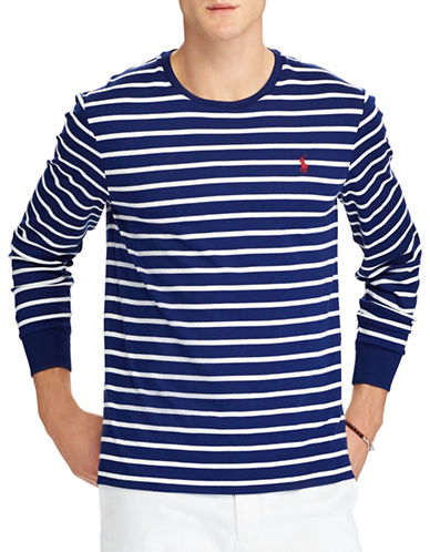 Polo Ralph Lauren Custom Fit Slim Fit Cotton T-Shirt-MEDIUM BLUE-XX-Large