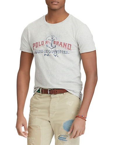Polo Ralph Lauren Custom Slim-Fit Cotton T-Shirt-GREY-X-Large 89952822_GREY_X-Large