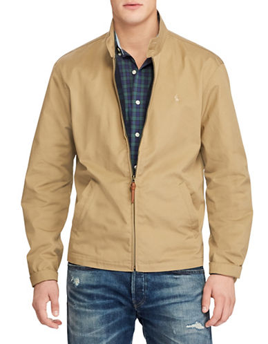 Polo Ralph Lauren Cotton Twill Jacket-BEIGE-X-Large