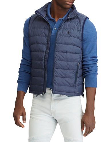 Polo Ralph Lauren Packable Down Vest-NAVY-X-Large